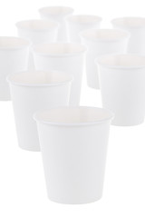 Generic Plain White Paper Coffee Cup