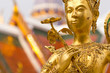golden statue in Grand Palace Bangkok Thailand