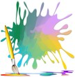 Pennello Macchia Colori Fondo-Brush with Color Stain Background