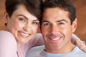 Portrait Of Romantic Young Couple