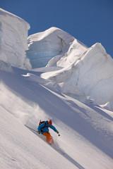 Skitour Abfahrt
