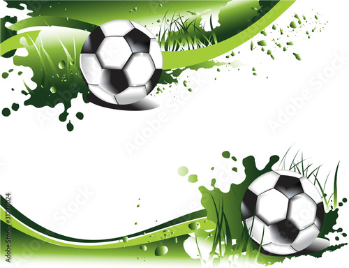 Fototapeta Green football banners