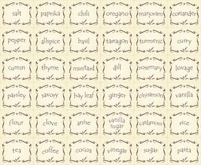 naklejki na przyprawy - spice labels - Gewürz-Etiketten 1