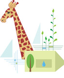 protect wildlife animals, restore their natural habitat poster