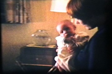 Baby Boy In Basinette (1962 Vintage 8mm film)