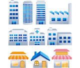 Fototapety building icons set