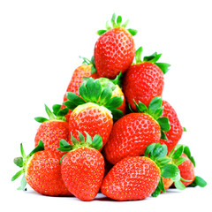 strawberry pile isolated
