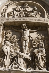 Vienna - old crucifiction relief from st. Stephen cathedral
