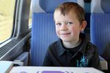 Départ en vacances en Train poster