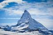 canvas print picture - matterhorn in winter
