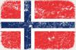 vector grunge styled flag of North Korea