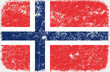 vector grunge styled flag of Norway