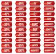 Preisschilder Preisschild Preis schild set - rot