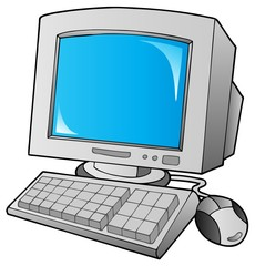 Cartoon desktop computer