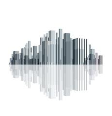 3d city skyline