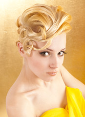 Young girl blonde hair