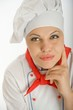 Planning female chef