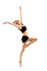 teen girl dancer isolated on white
