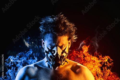 fireman blue-red