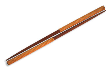 Chopsticks isolated on white