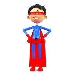 super hero cartoon in super pose