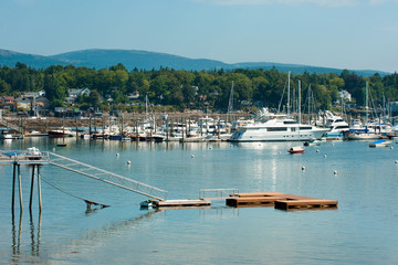 Yachts and boats in Southwest Harbor, Maine