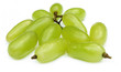 Fresh grapes isolated over white background