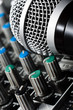Sound mixer with microphone
