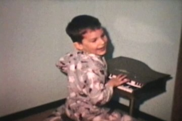 Kids Play Toy Piano (1968 Vintage 8mm film)