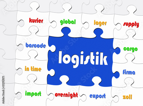 Logistik - Business Konzept - Puzzle Style