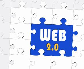 WEB 2.0 - Business Concept - Puzzle Style