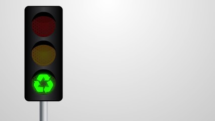 Traffic light - Ecology concept