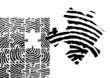 Fingerabdruck Puzzle