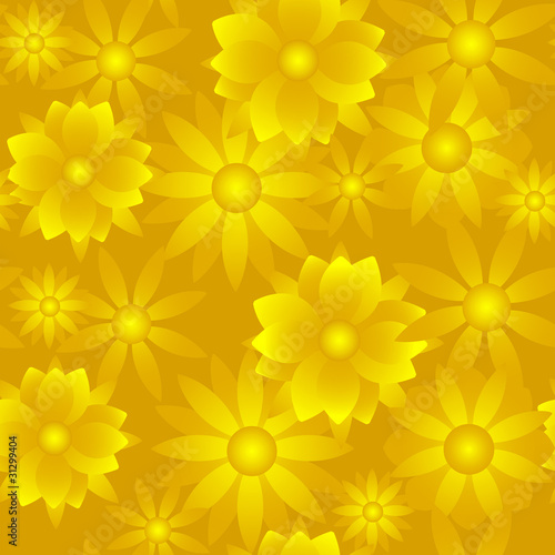 Golden Flower Background