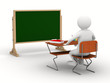 Classroom on white background. Isolated 3D image