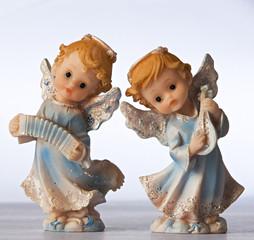 Blue angel figurines