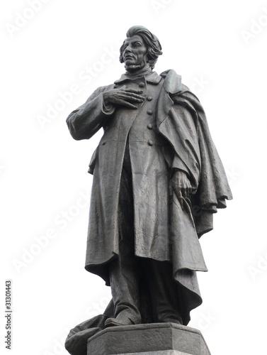 Polish poet Adam Mickiewicz monument in Warsaw, Poland - 31301443