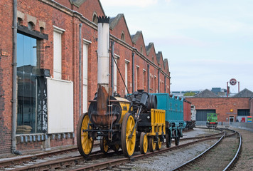 """Stephenson's """"Rocket"""", one of the first steam locomotives"""
