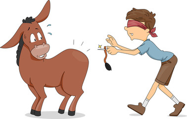 Pin the Donkey's Tail