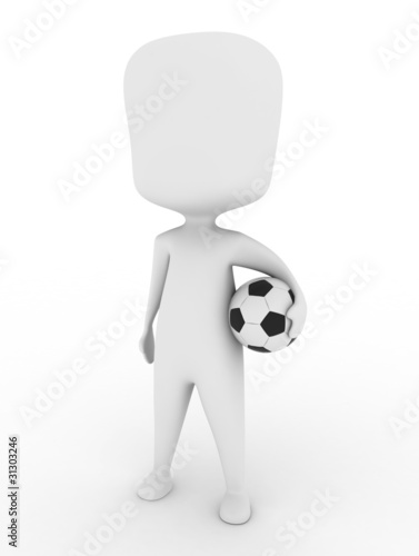 Man Carrying a Soccer Ball