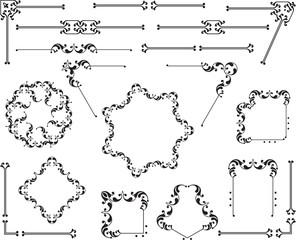Design, Border, Frame Elements