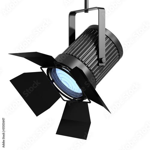 3d Spot light facing left