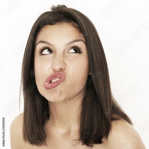 Frau mit Emotionen Poster