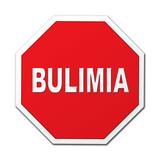 Bulimia stop octagon sign