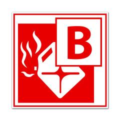 Fire class B sign
