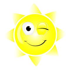 Lächelnde Sonne Vector