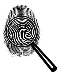 Fingerabdruck Lupe