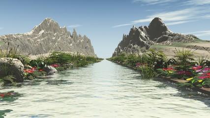 Der Fluß durch die Bergenge