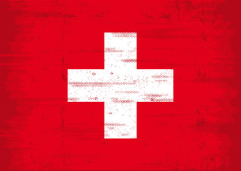 Swiss grunge flag