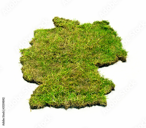 Grass map of Germany